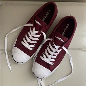 Maroon Converse Low Tops